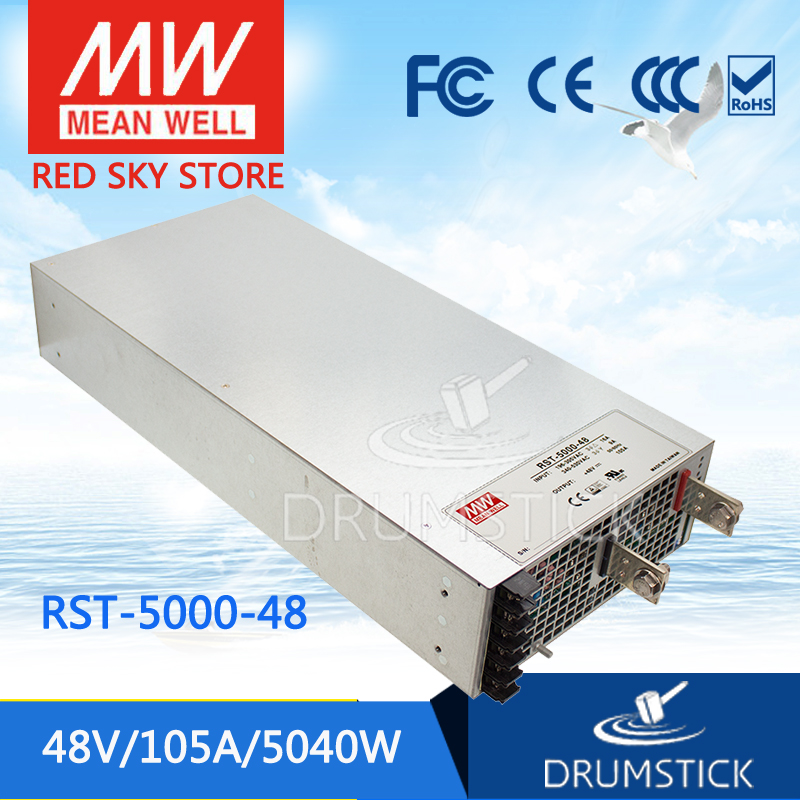 MEAN WELL RST-5000-48 48V 105A meanwell RST-5000 48V 5040W Single Output Power Supply цены онлайн
