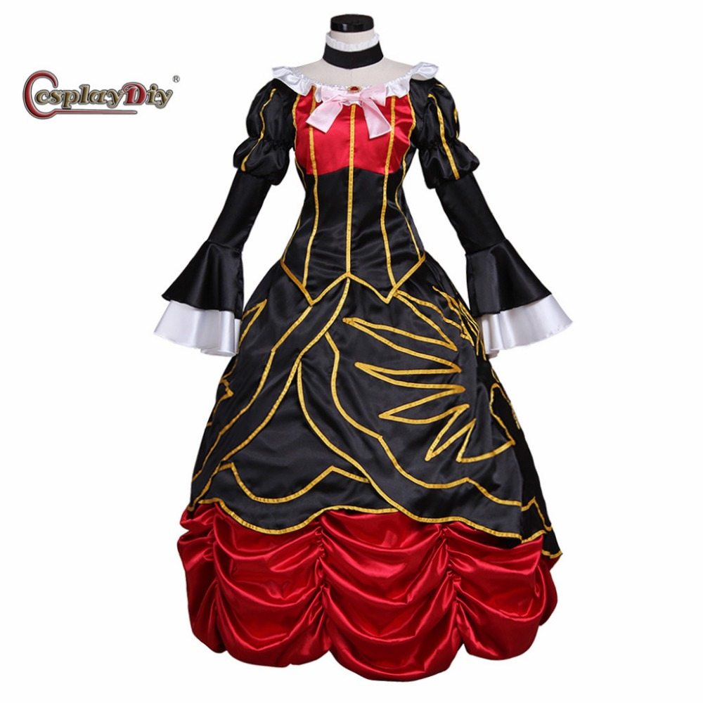 Cosplaydiy  Anime Umineko no Nakukoroni Beatrice Dress Adult Women Halloween Carnival Cosplay Costume Custom Made