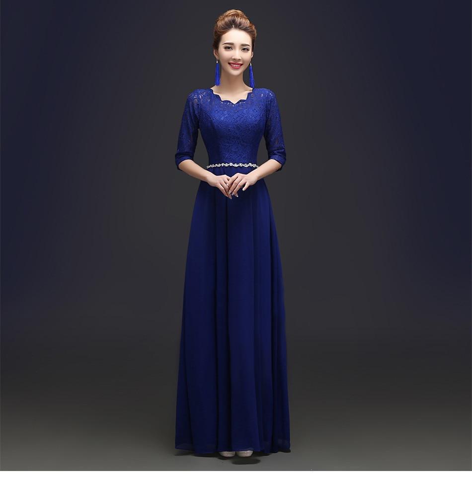 bf5d59f6ef39 2017 Custom Made Elegant Black Winter Evening Dresses Lace Half Sleeve Robe  De Soiree Long Vestido De Festa Longo