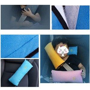 Image 3 - カバーシートベルト枕安全ベルトプロテクタークッション子供のための 1 Pc のショルダーストラップパッドクッションヘッドサポート