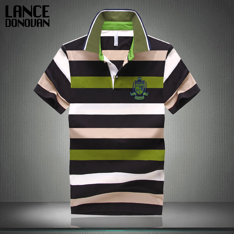 7 Styles Hot Sale 2015 New Arrival Men Polo Shirt Fashion Good Quality Classic Striped Homme Camisa