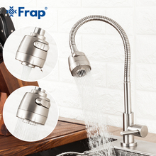 Frap 304 stainless steel Kitchen Faucet Single Handle Single Hole Kitchen Mixer Sink Tap Kitchen Single Cold Water Faucet Y40529 68 45cm stainless steel kitchen sink big size topmount single bowl water tank pull out kitchen faucet sink accessories