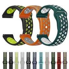 22 мм силиконовый спортивный ремешок для samsung Galaxy Watch 46 мм SM-R800NZSAXAR 20 мм Amazfit BIP ремешок для Galxy Watch 42 мм браслет