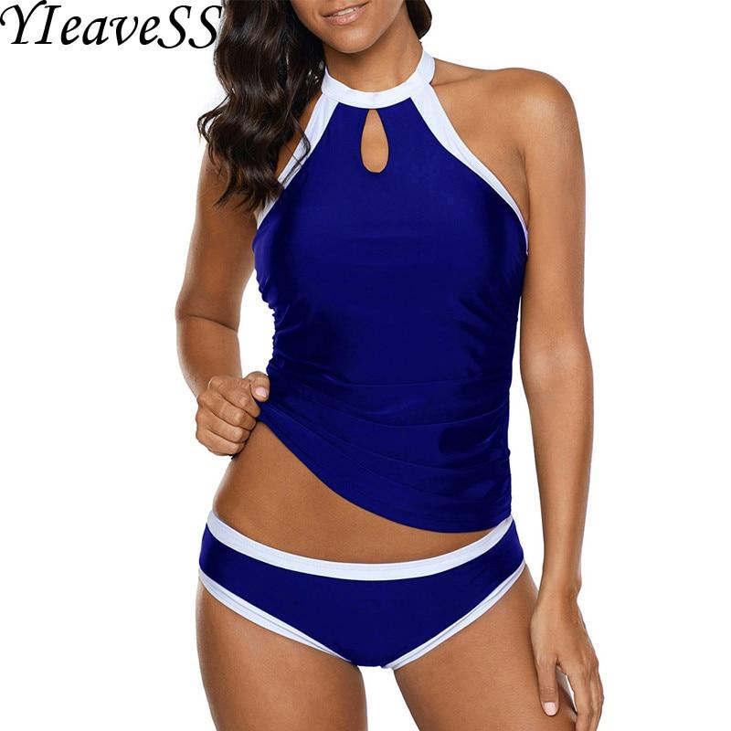 2019 Tankini Plus Size Swimming Suit 5XL Loose Swimsuit Women's Separate Bikini Bather Push Up Padded Swimwear