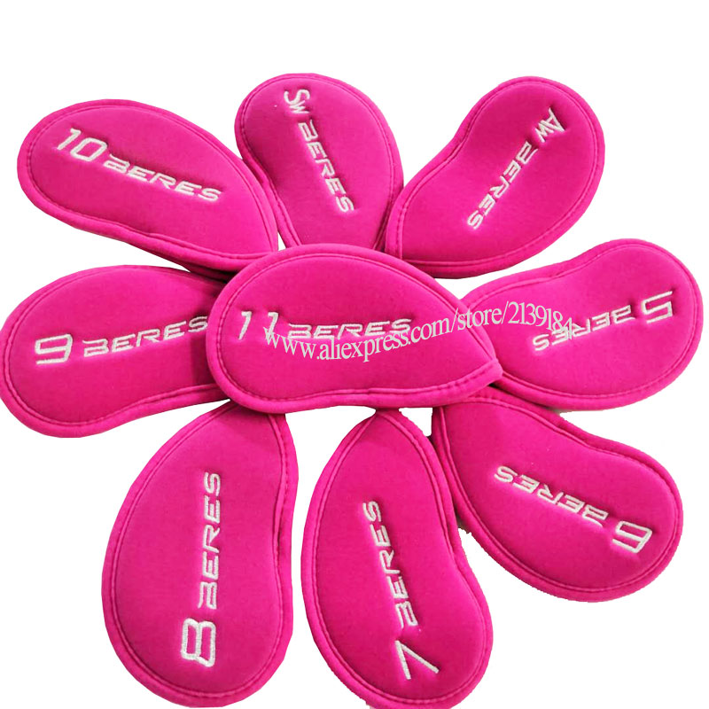 Cooyute New Golf Headcover HONMA Golf Irons Head Cover Pink Unisex Skull Clubs Head Cover Set Free Shipping