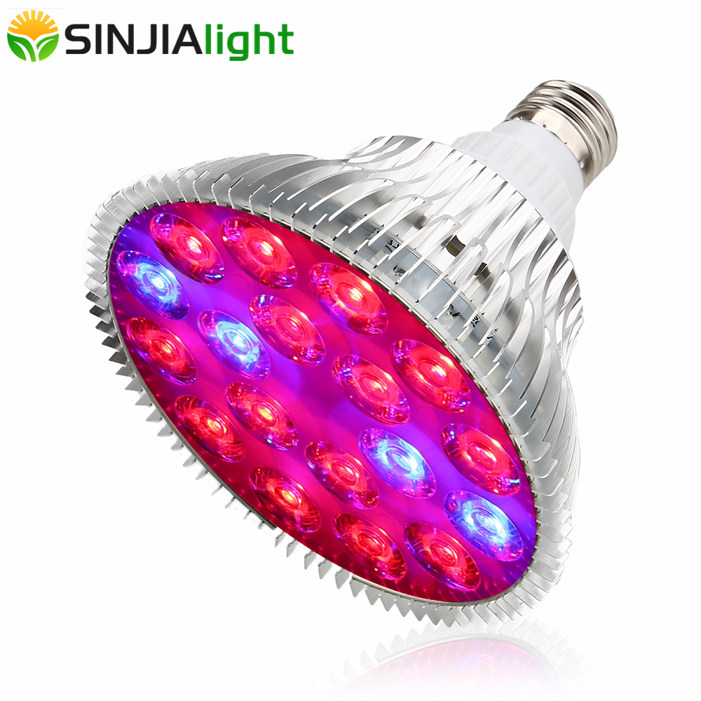 54W LED Grow Light Fitolamp Plant Growing Lamp 18LEDs Red+Blue Flower Bulb For Garden Seeds Plants Grow Box Indoor Lighting