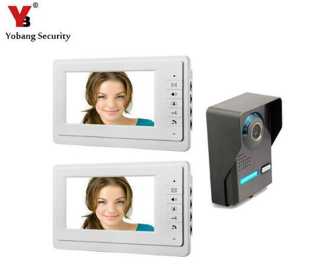 Yobang Security  7 Wired Video Intercom Doorbell System Video Intercom Doorbell System For Villa Interphone Doorphone waterproof 7 lcd wired screen video interphone doorphone doorbell intercom system night vision