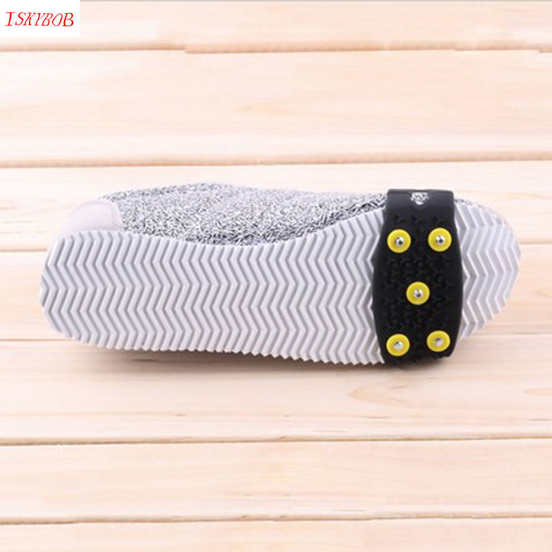 Snow Ice Climbing Anti Slip Spikes Grips Crampon Cleats 5-Stud Shoes Cover
