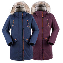 Women Skiing overcoat Ladies' long cotton coat outdoor Jacket snowboard suits Winter Parkas Waterproof thick clothing