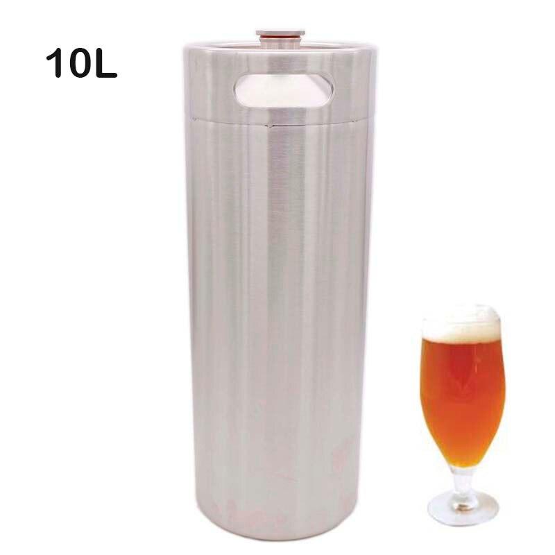 10 Liter 304SS Mini keg Beer Growler Portable Beer Bottle Homebrew Beer Making Bar Accessories