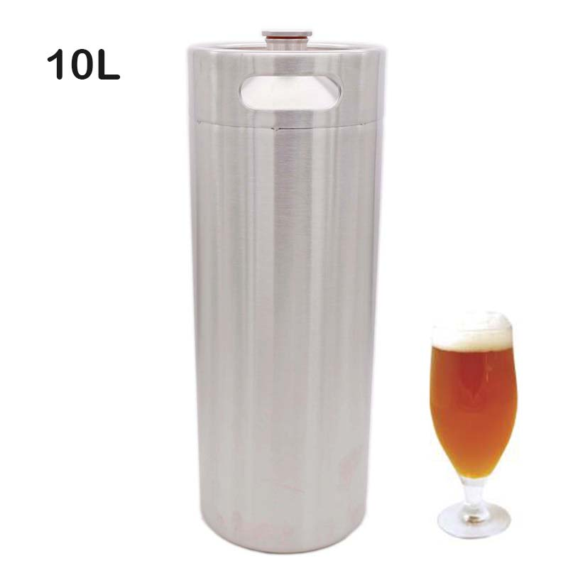 10 Liter 304SS Mini keg Beer Growler Portable Beer Bottle Homebrew Beer Making Bar Accessories-in Others from Home & Garden    1