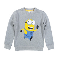 New 2016 Boy Clothes Anime Minion Children T Shirts Cotton Sweatshirt Kids Long Sleeve Girl Nova