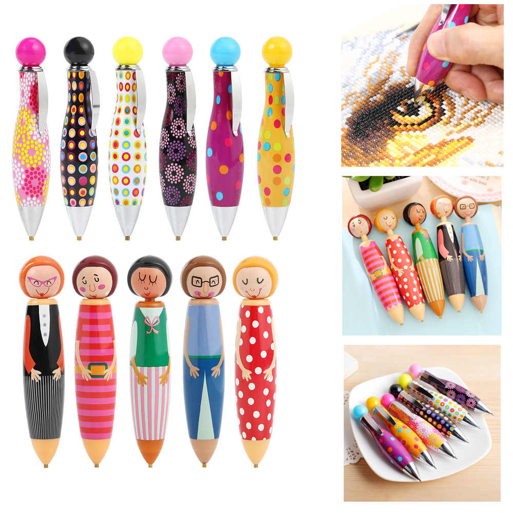 1PC 5D DIY Diamond Painting Tool Cartoon Diamond Painting Drill Pen Rhinestone Embroidery Drilling Pen Tools