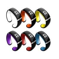 Moda L12S Bluetooth Braccialetto Intelligente Orologio Da Polso Inseguitore Sport Fitness orologio Da Polso intelligente braccialetto Giallo e nero