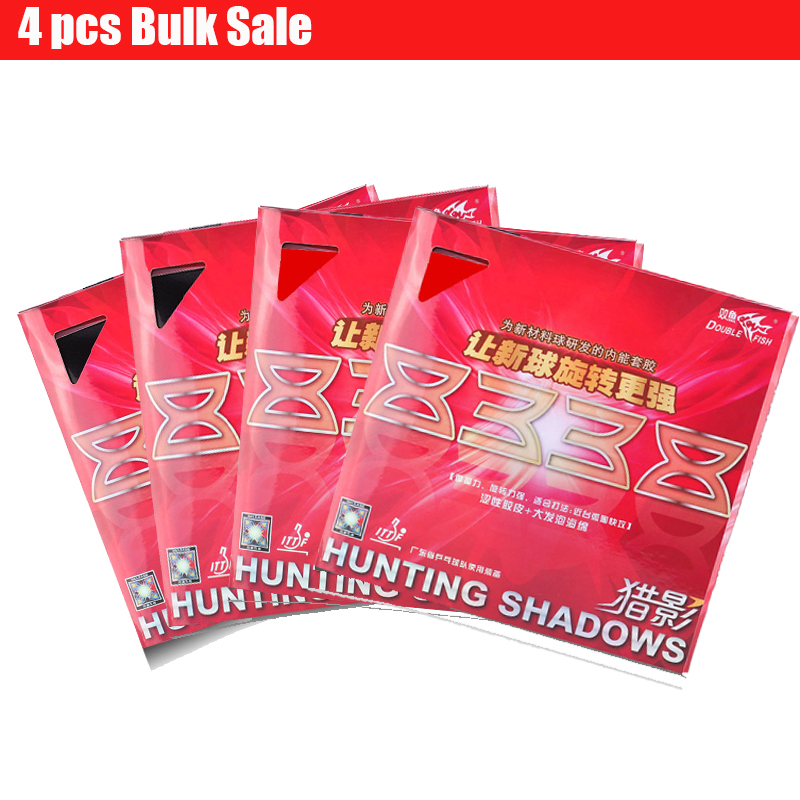 4pc DoubleFish Hunting Shadow 8338 Professional Inner Power Table Tennis Racket Rubber Tyre with Sponge Strong