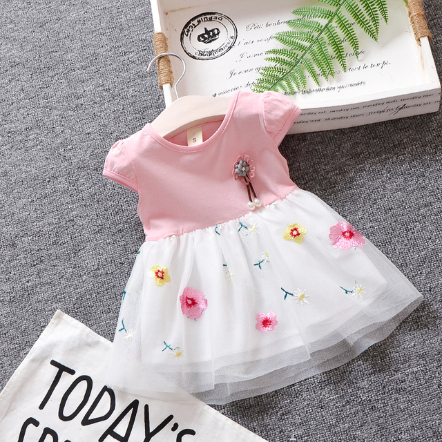 ce6a95f61 BibiCola baby girls dress summer bebe girls cute tutu dres new hem ...