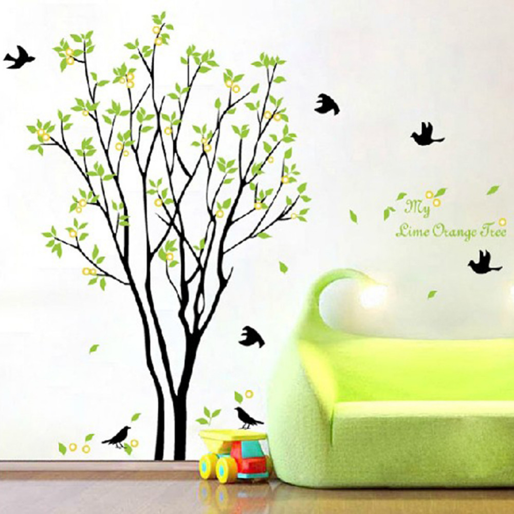 Decals Decor Art Removable Huge Birds Sing On The Tree Wall Stickers In Wall  Stickers From Home U0026 Garden On Aliexpress.com | Alibaba Group Part 74