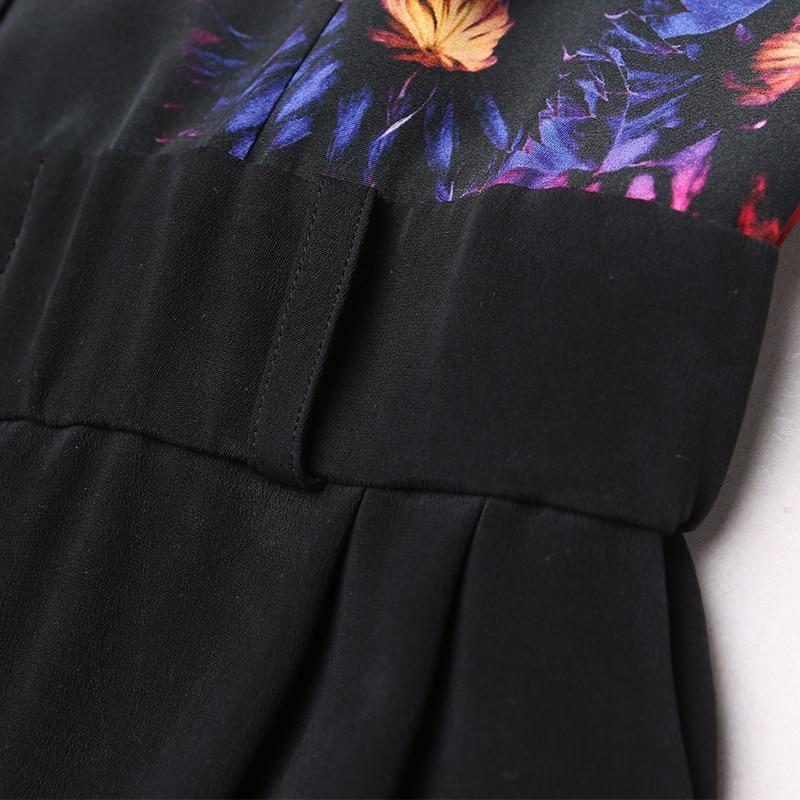 VOA Zijde Jumpsuit combinaison femme enteritos largos de mujer Elegante Jumpsuits Harembroek Lange Mouw Dames Streetwear K6360 - 5