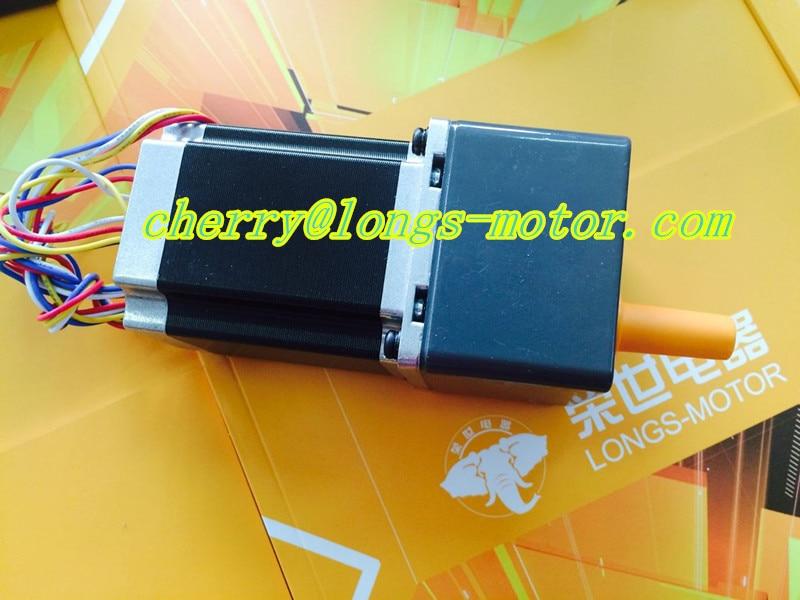 Longs Motor Gear motor 15:1 Ratio  1pc Nema23 stepper motor 3000oz.in 3.0A   23HS8430AG15  CNC Router / Engraving machine