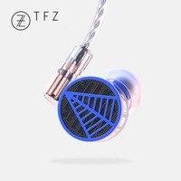 Free gift + TFZ TEQUILA 1 HiFi Audiophile 2 pin 0.78mm Hifi Music Monitor Studio Detachable In ear Earphone Dynamic MMCX Earbud