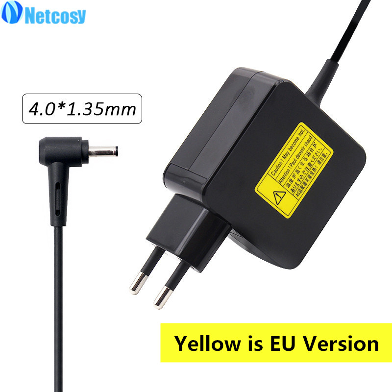 Netcosy 4.0*1.35mm 19V 2.37A 33W Power AC Adapter Charger For Asus C300MA X200CA X200MA X200LA X201E X202 X202E Laptop