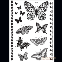 1piece Indian Arabic Black White Butterfly Tattoos Lace Flash Tribal Fake Henna Tattoo Paste Temporary Tatoo Sticker Hand J024B