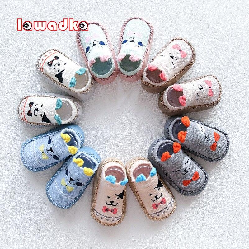 Baby Socks With Rubber Soles Infant Newborn Baby Girls Boys Autumn Winter Children Floor Socks Shoes Anti Slip Soft Sole Sock