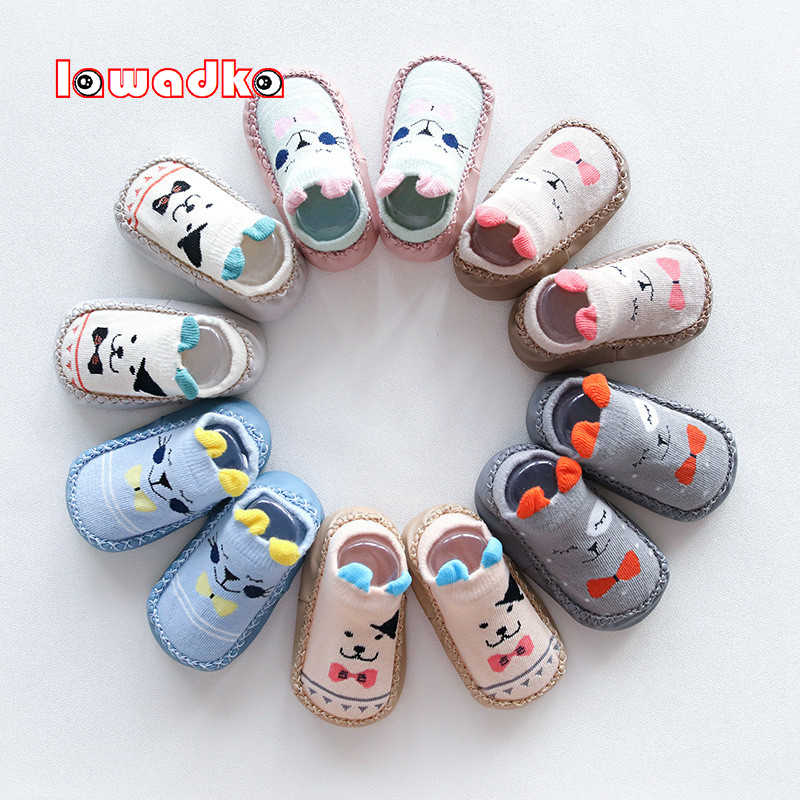 Baby Socks With Rubber Soles Infant Newborn Baby Girls Boys Autumn Winter Children Floor Socks Shoes Anti Slip Soft Sole Sock
