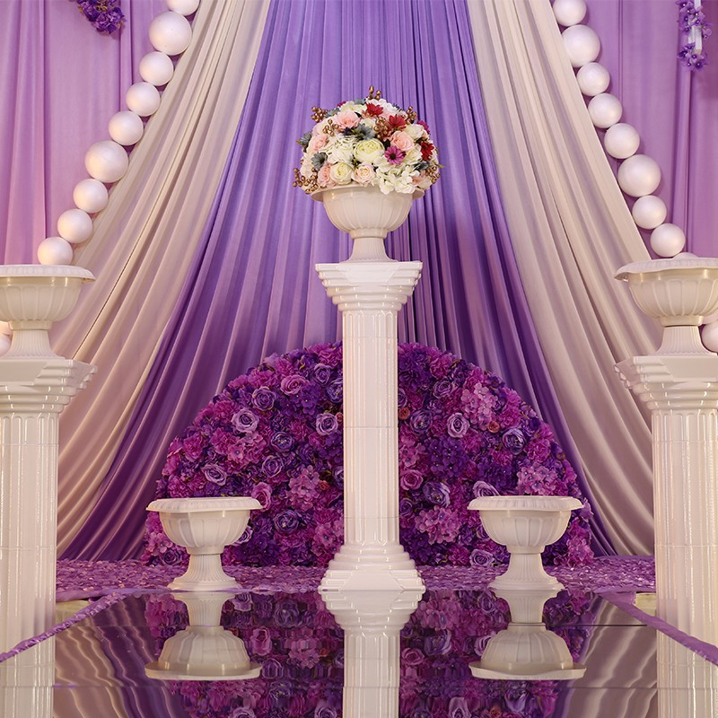 Wedding Flower Pillars: 6pcs Wedding Plastic Roman Pillars And Flower Pots Wedding