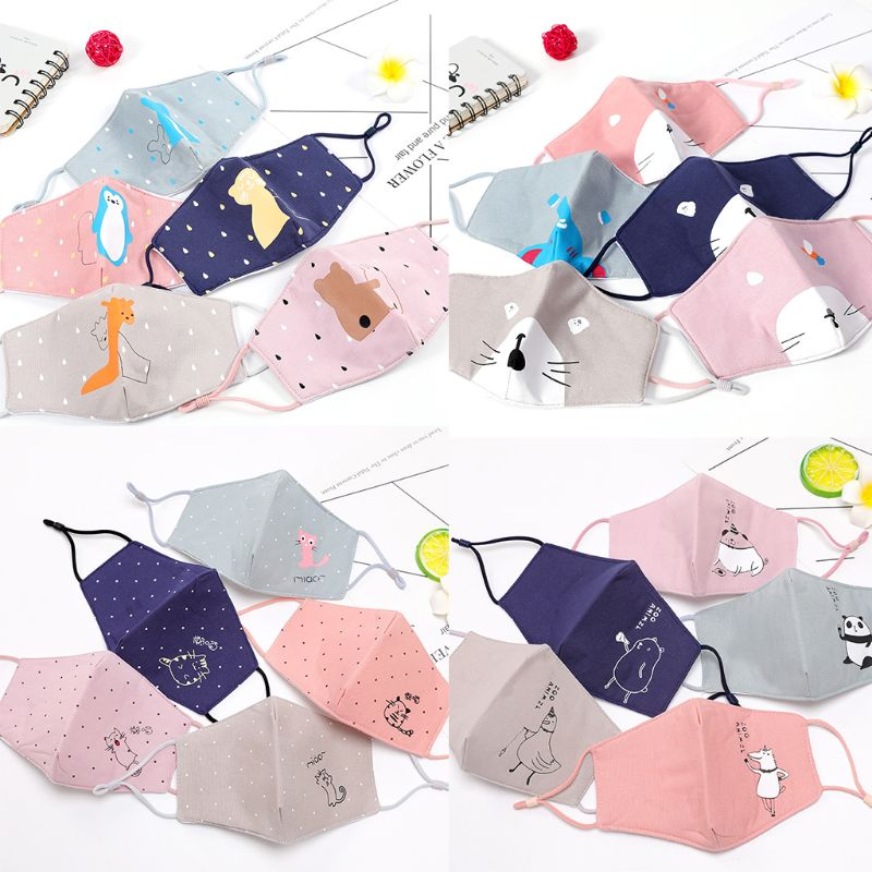 Foldable Cotton 5 Anti Pm2 Cute Mouth Washable Dust Mask 3d