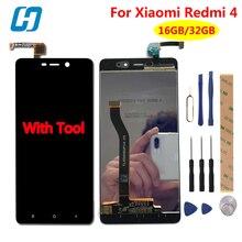 Дешевые Xiaomi Redmi 4 Pro ЖК-дисплей Дисплей + Сенсорный экран Тесты хорошо новый дигитайзер Экран Стекло Панель для Xiaomi Redmi 4 Pro премьер Redmi 4
