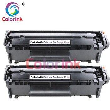 ColorInk 2pack Q2612A 12A 2612 toner patrone für HP 1010/1020/1015/1012/3015/3020/3030/3050/1005 drucker schwarz toner patrone