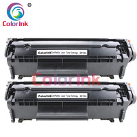 ColorInk 2pack Q2612A 12A 2612 toner cartridge for HP 1010/1020/1015/1012/3015/3020/3030/3050/1005 printer black toner cartridge