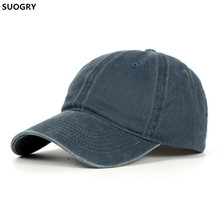 High quality Washed Cotton Adjustable Solid color Baseball Cap Unisex couple cap Fashion Leisure Casual HAT Snapback