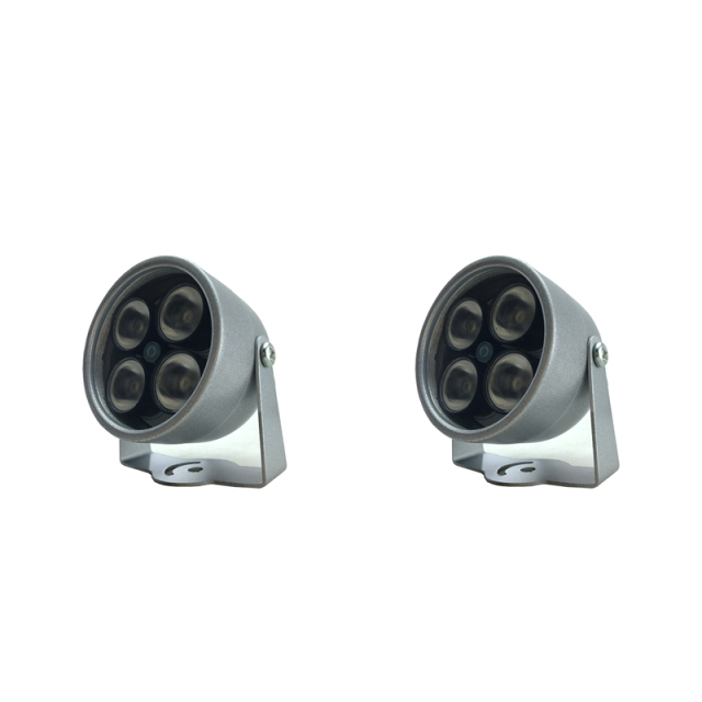 2pcs 4 IR LED Infrared Illuminator Light IR Night Vision for CCTV Security Camera Fill Lighting metal gray Dome