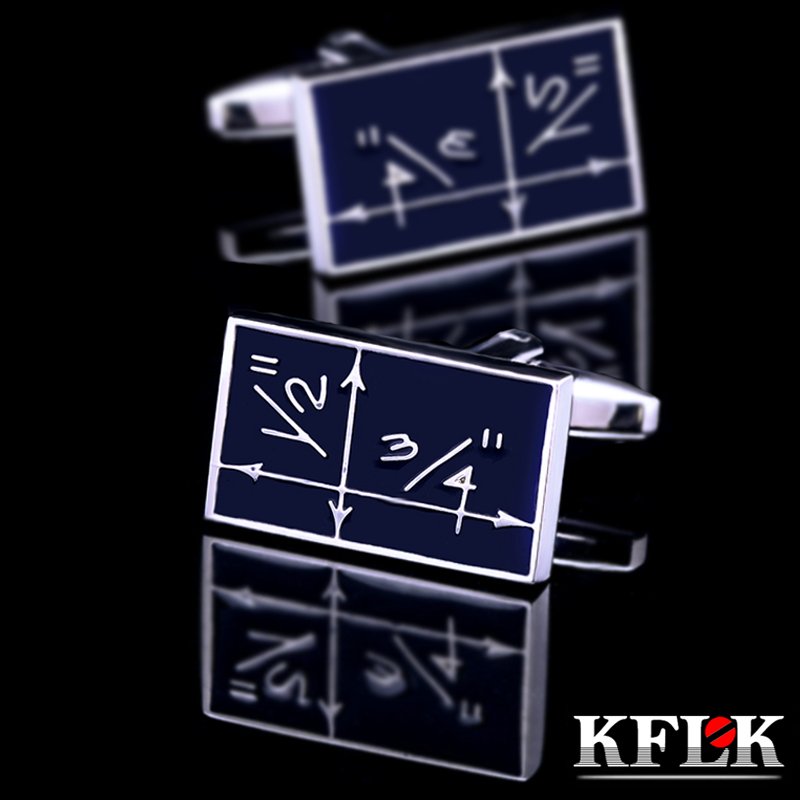 KFLK Jewelry shirt cufflinks for mens Brand Mathematics Cuff link Wholesale Novelty designer Buttons High Quality Free Shipping