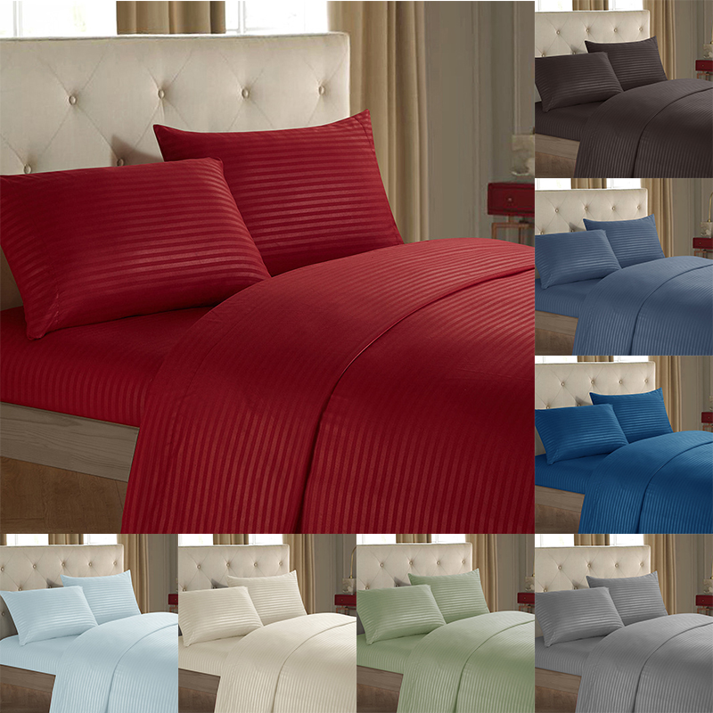 Bedding-Set Duvet-Cover-Set Flat-Sheet-Fitted Pure-Cotton 3/4PCS Hotel Modern