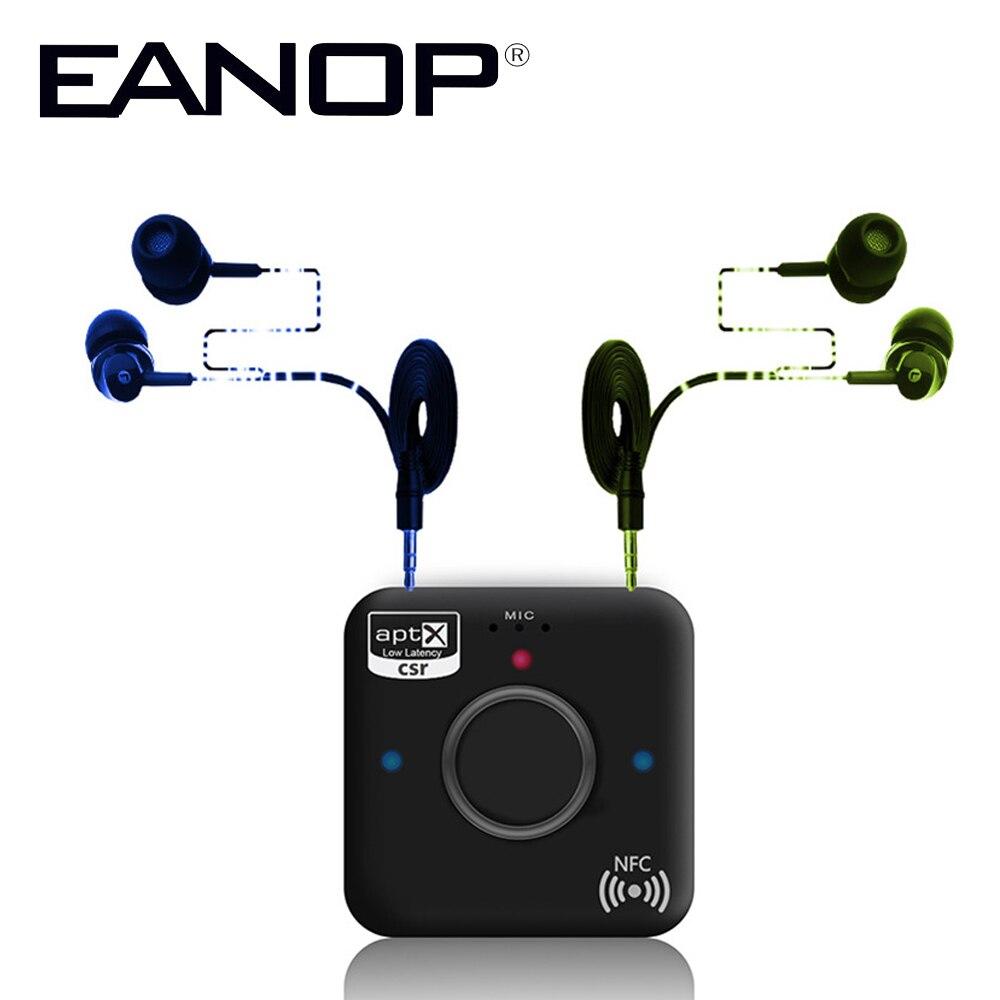 EANOP B7 Plus Bluetooth Audio Receiver Handsfree Bluetooth 4.2 CSR NFC 3.5MM Dual Audio Player Aux Car Mp3 player