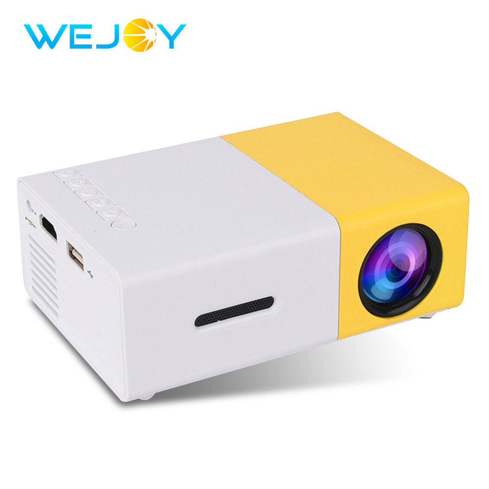Wejoy LCD Projector YG-300 LED Pocket Projector Mini Video 320x240P LED Projector Media Player TV Home Theatre Proyector Portati
