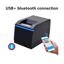 цена на NEW barcode Thermal printer sticker label printer qr code sticker clothing tag goods label supermarket receipt bluetooth printer