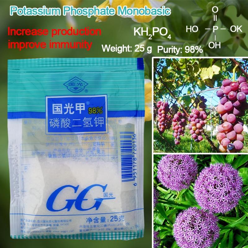 25 G Potassium Dihydrogen Phosphate  Leaf Surface Fertilizer Promote Plant Growth  Improve Bonsai  Flower Immunity For Garden