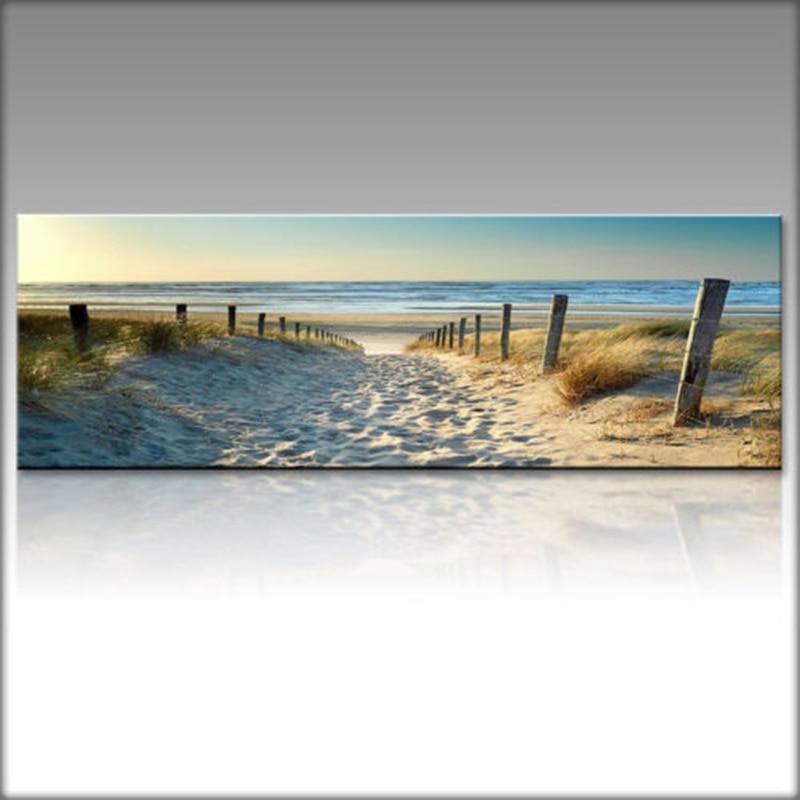 Leinwand Druck Wand Kunst Bild Ozean Strand Natur Wind Landschaft Poster Gemälde Wohnzimmer Dekoration Home Decor Kein Rahmen