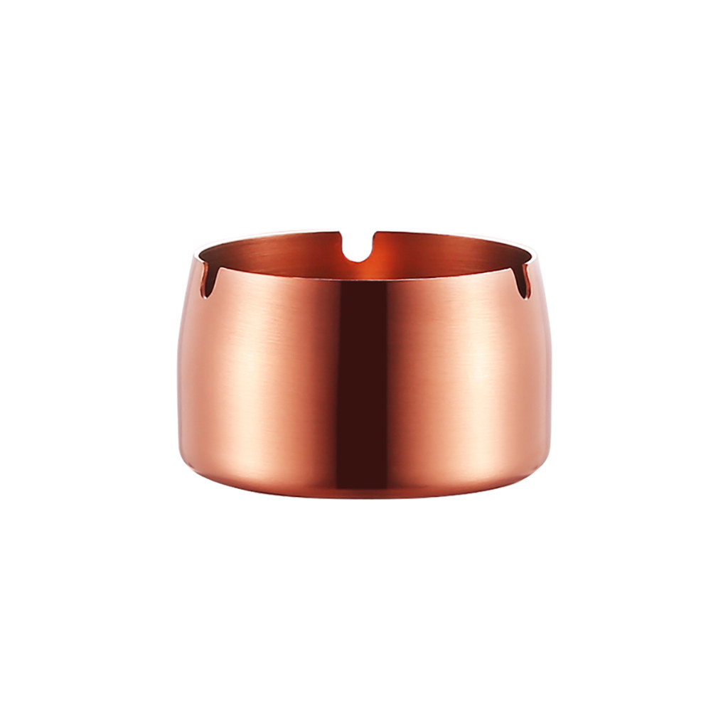 Image 5 - Creative Stainless Steel High Temperature Drop Resistant Ashtrays Round  Living Room Desk Office Desk Ash Storage Tray Box-in Ashtrays from Home & Garden