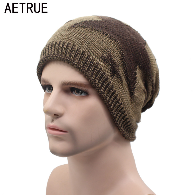 AETRUE Knitted Hat Winter Beanies Men Caps Gorras Bonnet Plain Warm Baggy Blank Winter Hats For Men Women Skullies Beanies Hats aetrue beanie knit winter hat skullies beanies men caps warm baggy mask new fashion brand winter hats for men women knitted hat