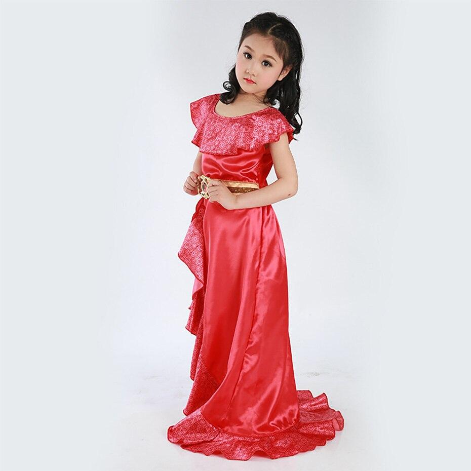 Princess Princess Elena Latino Elena princess dress Fantasy Cosplay Costume Comic Movie Carnival Party Purim Halloween