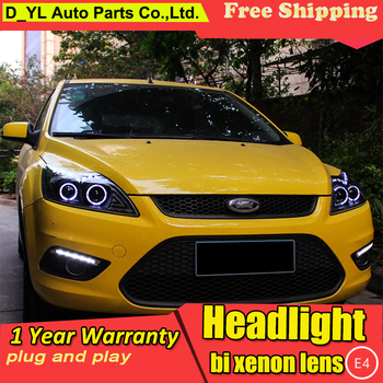 Car Styling Headlights for Ford Focus 2009-2014 LED Headlight for Focus Head Lamp LED Daytime Running Light LED DRL Bi-Xenon HID