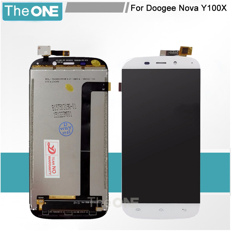 ФОТО For Doogee Nova Y100X LCD Display+Digitizer touch Screen for doogee y100x lcd assembly with black&white