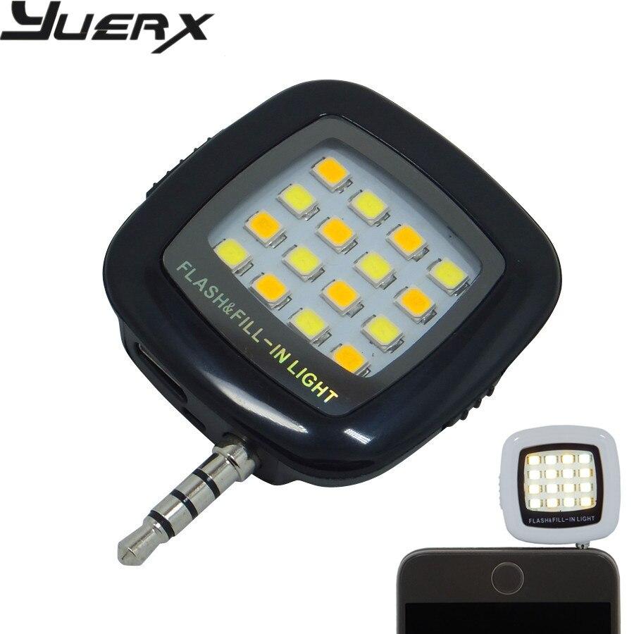 Мини Портативный Smart LED Камера заполняющая вспышка Selfie свет для мобильных телефоно ...