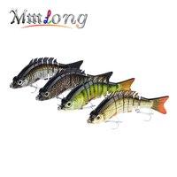 Mmlong 15cm Multi Jointed Fishing Lure 7 Segment Artificial Swimbait 59g LifeLike Crankbait Slow Sinking Hard