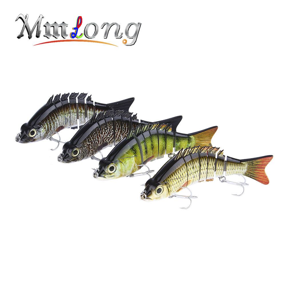 Mmlong 15cm Multi Jointed Fishing <font><b>Lure</b></font> 7 Segment Artificial Swimbait 59g LifeLike Crankbait Slow Sinking Hard Bait Tackle ML08B